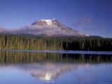 Mt. Adams with Reflection in Takhlakh Lake, Gifford Pinchot National Forest, Washington, USA Photographic Print