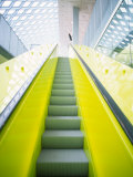 Colorful Escalator in the Central Library, Seattle, Washington, USA Photographic Print by Charles Crust