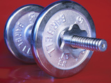 Steel Dumbbell for Workout Photographic Print