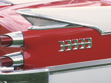 Tail Lights and Fin on Sleek Antique Car Photographic Print