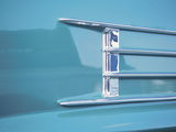Chrome Decoration on Blue Classic Car Photographic Print