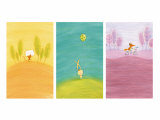 Crossing Critters Triptych Print