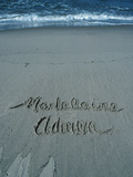 A Name Written in the Sand at Beach Photographic Print