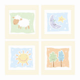 Baby Comforts Four Patch Premium Giclee Print