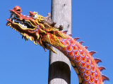 Chinese Dragon in Chinatown, Seattle, Washington, USA Photographic Print