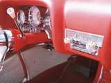 Vintage Red Dashboard of Car in Good Condition Photographic Print
