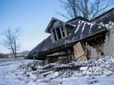 Abandoned and Derelict House in Winter Photographic Print