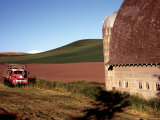 Barn and Truck in Palouse Area, Washington, USA Photographic Print by Janell Davidson