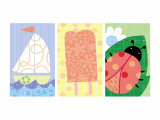 Signs of Summer Triptych Posters
