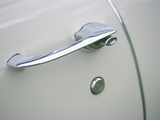 Vintage Chrome Car Door Handle in Very Good Condition Photographic Print