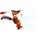 Woman's Eye with Target and Website Information Photographic Print