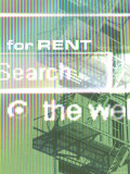 For Rent Search Online with Fire Escape Background Photographic Print