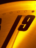 Close-up of Ticking Clock Photographic Print