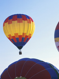 Hot Air Balloons Floating Through Sky Photographic Print