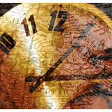 Ticking Clock on International Map Photographic Print