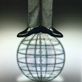 Businessman Standing on Globe Photographic Print