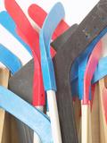 Pile of Hockey Sticks Photographie