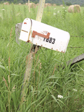 Rickety Old White Rural Mailbox Photographic Print
