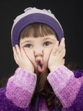 Little Girl Making Face Photographie