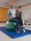 Patient with Rehabilitation Specialist Photographic Print