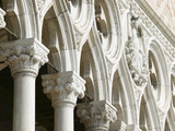 Columns and Decorated Arches Outside Cathedral Photographic Print
