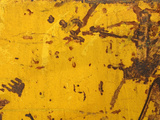 Close-up of a Rough Yellow Wall with Brown Scratches Photographic Print
