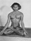 Yogi Vithaldas in the Padma-Asan (Lotus Pose) One of the Meditative Postures Photographic Print