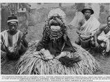 Witchdoctor of Southern Africa Encountered by the American Traveller William Seabrook Photographic Print