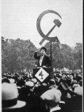Communist Orator Harangues the Crowd at Speaker's Corner Hyde Park London Reprodukcja zdjęcia