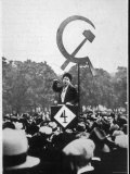 Communist Orator Harangues the Crowd at Speaker's Corner Hyde Park London Photographic Print