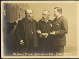 Felix Josef Mottl Austrian Composer and Conductor with Colleagues Richter and Levi Photographic Print