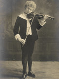 Florizel Von Reuter Austrian Musician as a Young Boy Playing the Violin Photographic Print