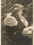 Dame Ellen Alice Terry English Actress, Not Getting on with Her Paperwork! Photographic Print