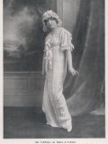 Mlle Vareska of the Theatre de l'Athenee in Her Night Attire Photographic Print