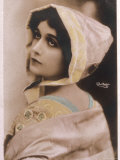 Lina Cavalieri Italian Singer Wearing a Bonnet Photographic Print