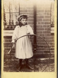 Girl and Her Hoop Photographic Print