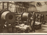 The Rotary Annealing Room Where Blanks are Softened in the Red Hot Furnaces Photographic Print