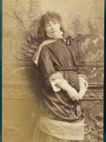Sarah Bernhardt French Actress in Thoughtful Mood Photographic Print