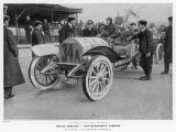 The Emperor's Cup Jenatzy in His Mercedes at Taunus Photographic Print