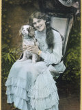 The Popular Actress Zena Dare with Her Spaniel, Photographic Print