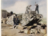 German Tanks Recycled in Compliance with the Treaty of Versailles Photographic Print