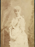Sarah Bernhardt French Actress in a Frilly Dress Photographic Print