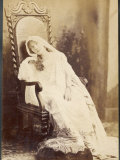 Sarah Bernhardt French Actress Drooping in a Chair Photographic Print