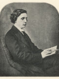 Lewis Carroll alias Charles Lutwidge Dodgson, English Mathematician, Clergyman and Writer Photographic Print