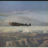 ME 110 over Greece Photographic Print
