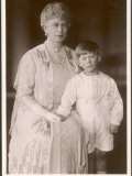Queen Mary Wife of George V with Her Daughter Mary's Son Hubert Lascelles Photographic Print