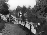 Two Young Men at the River Lea Photographic Print