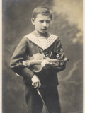 Franz Von Vecsey Young Violinist in 1905 Photographic Print
