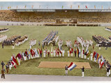 Dutch Footballer Harry Denis Swears the Olympic Oath Photographic Print