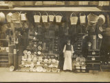 Splendid Display of Goods Outside an Ironmonger's Shop Photographic Print